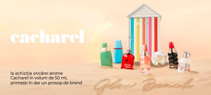 Primești în dar un prosop de brand, la achiziția oricărei arome Cacharel în volum de 50 ml