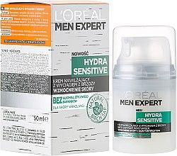 Parfumuri și produse cosmetice Cremă hidratantă cu extract de mesteacăn pentru piele sensibilă - L'Oréal Paris Men Expert Hydra Sensitive 25+