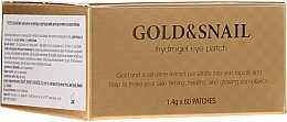 Parfumuri și produse cosmetice Patch-uri hydrogel sub ochi cu aur și melc - Petitfee & Koelf Gold & Snail Hydrogel Eye Patch