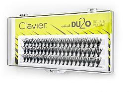 """Parfumuri și produse cosmetice Gene false """"Volum dublu"""", 13 mm - Clavier DU2O Double Volume"""