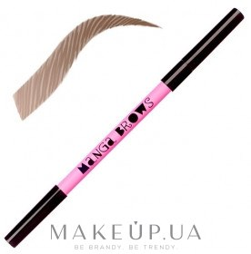 Creion cu două capete pentru sprâncene - Neve Cosmetics Manga Brows — Imagine Ash blonde/cold brown
