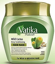 Mască de păr - Dabur Vatika Wild Cactus Deep Conditioning Hair Mask — Imagine N3