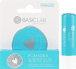 Parfumuri și produse cosmetice Ruj de buze cu efect de protecție - BasicLab Dermocosmetics Famillias