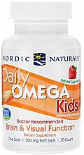 """Parfumuri și produse cosmetice Supliment alimentar pentru copii, căpșuni 500 mg """"Ulei de pește"""" - Nordic Naturals Daily DHA"""