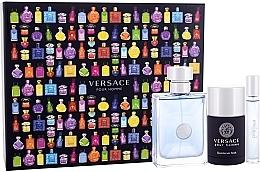Parfumuri și produse cosmetice Versace Pour Homme - Set (edt/100ml + edt/mini/10ml + deo/stick/75ml)