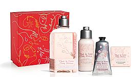 Parfumuri și produse cosmetice Set - L'Occitane Cherry Blossom (sh/gel/250ml + b/lot/75ml + soap/50g + h/cr/75ml)