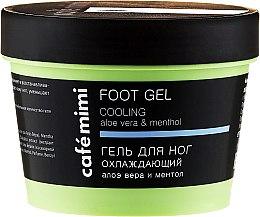 Parfumuri și produse cosmetice Gel revigorant pentru picioare - Cafe Mimi Foot Gel Cooling Aloe Vera & Menthol