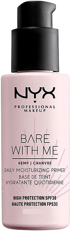 Primer hidratant pentru față SPF30 - NYX Professional Makeup Bare With Me Hemp Deily Moisturizing Primer