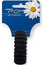 Parfumuri și produse cosmetice Elastic de păr, negru, 22814 - Top Choice