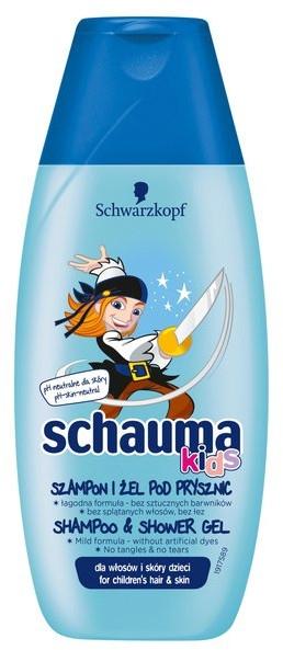 """Șampon și Gel de duș """"Îngrijire blândă"""" - Schwarzkopf Schauma Kids Shampoo — Imagine N1"""
