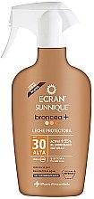 Parfumuri și produse cosmetice Spray bronzant cu protecție solară - Ecran Sunnique Broncea+ Spf30