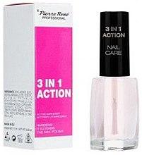 Parfumuri și produse cosmetice Soluție pentru unghii fortifiantă și activă - Pierre Rene 3 in 1 Action Nail Care