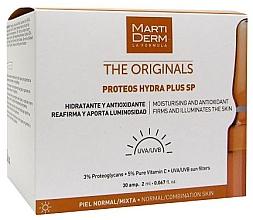 Parfumuri și produse cosmetice Fiole de protecție solară pentru față - MartiDerm The Originals Proteos Hydra Plus SP