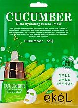 Parfumuri și produse cosmetice Mască de țesut cu extract de castravete - Ekel Cucumber Ultra Hydrating Essence Mask