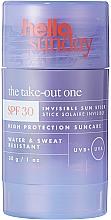 Parfumuri și produse cosmetice Stick de protecție solară pentru față și corp - Hello Sunday The Take-Out One Invisible Sun Stick SPF 30
