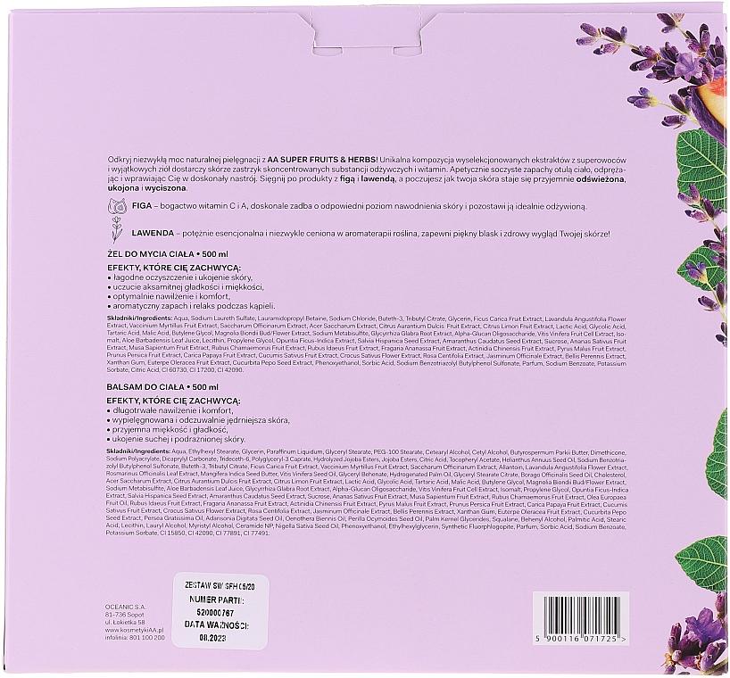 Набор - AA Super Fruits&Herbs Set (sh/gel/500ml + b/lot/500ml) — фото N4