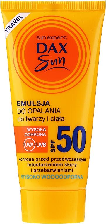 Emulsie cu protecție solară pentru față și corp - Dax Sun Emulsion SPF50
