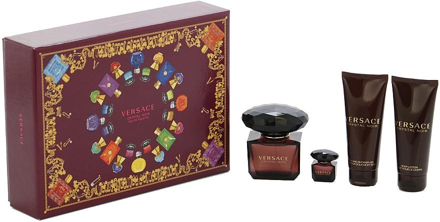 Versace Crystal Noir - Set (edt/90ml + edt/mini/5ml + sh/gel/100ml + b/lot/100ml)