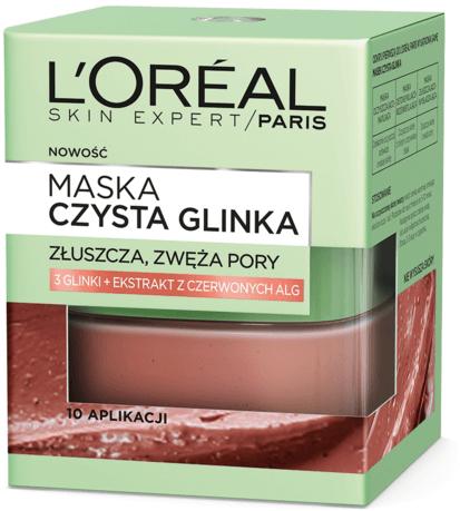Mască exfoliantă cu argilă naturală și alge roșii - L'Oreal Paris Skin Expert
