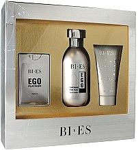 Parfumuri și produse cosmetice Bi-Es Ego Platinum - Set (edt/100ml + edp/15ml + sh/gel/50ml)