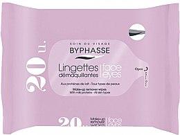 Parfumuri și produse cosmetice Șervețele demachiante, 20 buc - Byphasse Make-up Remover Milk Proteins All Skin Wipes