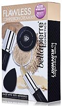 Parfumuri și produse cosmetice Set pentru machiaj - Bellapierre Flawless Complexion Cream Kit (concealer/3.5g + foundation/10g + powder/4g + sponge/1ps.) (Medium)