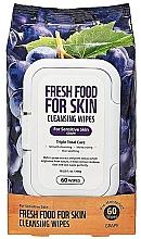 """Parfumuri și produse cosmetice Șervețele pentru față """"Strugure"""" - Superfood For Skin Fresh Food Facial Cleansing Wipes"""
