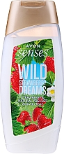 """Parfumuri și produse cosmetice Cremă-gel de duș """"Căpșuni și iaurt"""" - Avon Senses Wild Strawberry Dreams Shower Creme"""
