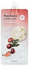 Parfumuri și produse cosmetice Mască de față bazată pe unt de shea - Missha Pure Source Pocket Pack Shea Butter