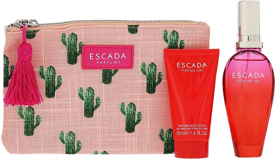 Escada Flor del Sol - Set (edt/50ml + b/lot/50ml + bag) — Imagine N3
