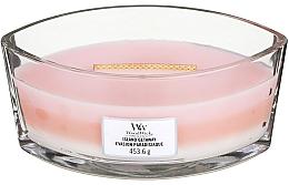 Parfumuri și produse cosmetice Lumânare parfumată în suport de sticlă - WoodWick Hearthwick Flame Ellipse Trilogy Candle Island Getaway