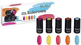 Parfumuri și produse cosmetice Set - NeoNail Professional Kolorowa Set (5 x nail/polish/3ml)