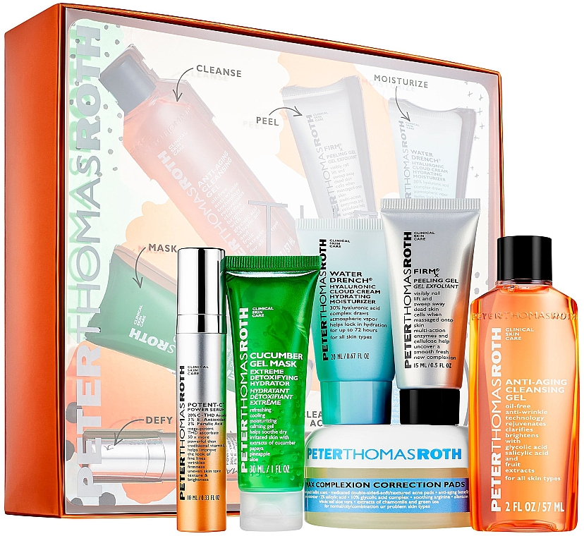 Set - Peter Thomas Roth A-List Kit (serum/10ml+peeling/15ml+clean/cr/20ml+patch/20pcs+mask/30ml+clean/gel/57ml) — Imagine N3