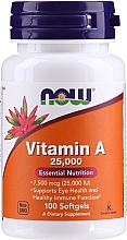"Parfumuri și produse cosmetice Supliment alimentar ""Vitamina A"" - Now Foods Vitamin A 25000 IU Essential Nutrition"
