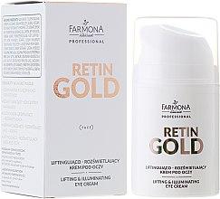 Parfumuri și produse cosmetice Cremă-Lifting pentru pielea din jurul ochilor - Farmona Retin Gold Lifting & Illuminating Eye Cream