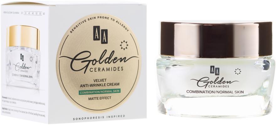 Cremă de zi împotriva ridurilor pentru piele mixtă și normală - AA Cosmetics Golden Ceramides Velvet Anti-wrinkle Day Cream — Imagine N1