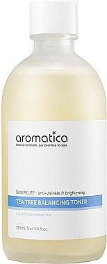 Tonic de față - Aromatica Tea Tree Balancing Toner — Imagine N1