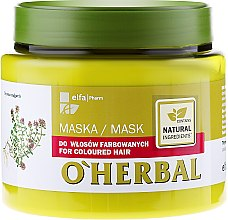 Parfumuri și produse cosmetice Маска для окрашенных волос с экстрактом чабреца - O'Herbal