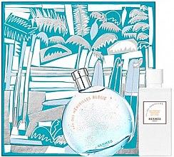 Parfumuri și produse cosmetice Hermes Eau des Merveilles Bleue - Set (edt/100ml + b/lot/80ml)