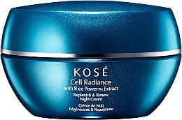 Parfumuri și produse cosmetice Cremă de noapte pentru față  - KOSE Rice Power Extract Cell Radiance Replenish & Renew Night Cream