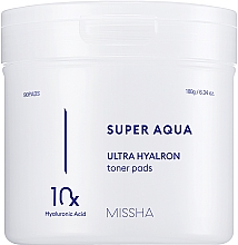 Parfumuri și produse cosmetice Patch-uri hidratante cu acid hialuronic pentru față - Missha Super Aqua Ultra Hyalron Toner Pads