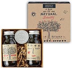 Parfumuri și produse cosmetice Set - Bath House A Box Of Natural Beauty (b/wash/60ml + b/lot/60ml + lip/balm/15g)