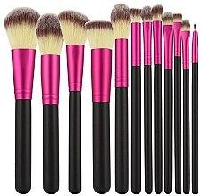 Parfumuri și produse cosmetice Set pensule profesionale pentru machiaj, 12 buc., roz+negru - Tools For Beauty