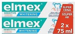 Parfumuri și produse cosmetice Set - Elmex Professional Sensitive Whitening Teeth (toothpaste/2x75ml)