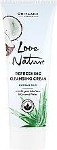 Parfumuri și produse cosmetice Cremă de față cu aloe organică și apă - Oriflame Love Nature Refreshing Cleansing Cream