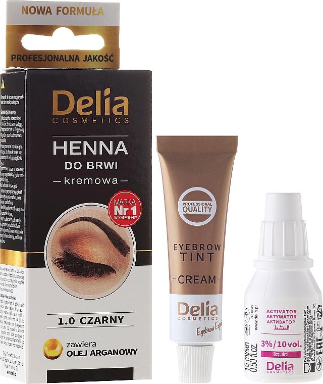 Vopsea-cremă pentru sprâncene - Delia Cosmetics Cream Eyebrow Dye