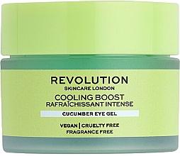 Parfumuri și produse cosmetice Gel cu castravete pentru ochi - Revolution Skincare Cooling Boost Cucumber Eye Gel