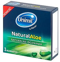 Parfumuri și produse cosmetice Prezervative, 3 bucăți - Unimil Natural Aloe