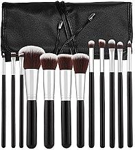 Parfumuri și produse cosmetice Set pensule profesionale de machiaj, 12 bucăți, negru - Tools For Beauty