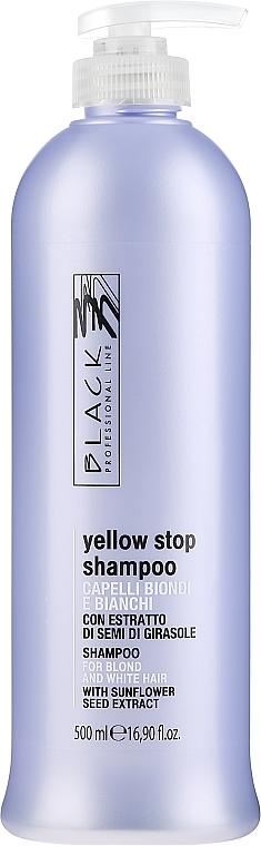 Шампунь против желтизны для седых, осветленных волос - Black Professional Line Yellow Stop Shampoo — фото N1